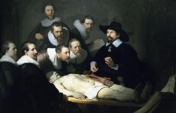 Rembrandt - The Anatomy Lesson (Quelle: Wikimedia Commons)