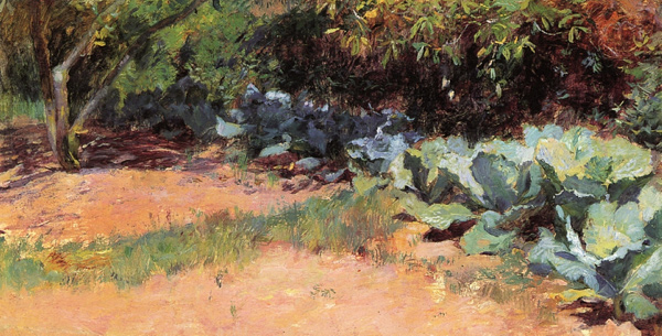 Guy Rose - The cabbage patch (Quelle: Wikipaintings)