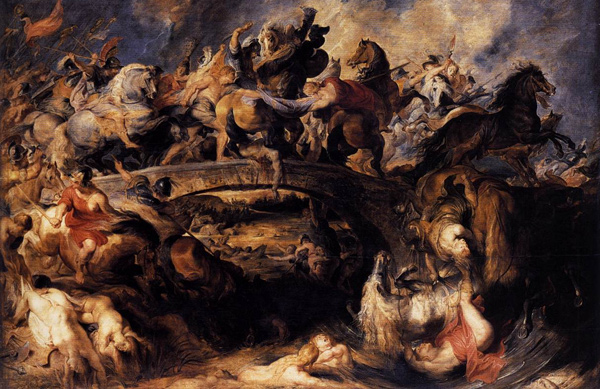 Peter Paul Rubens - The Battle of the Amazons (Quelle: Wikipaintings)