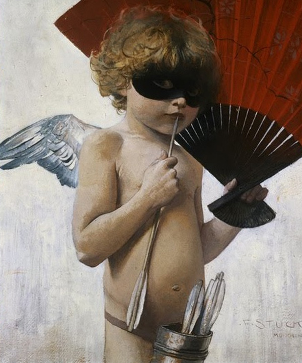Franz Stuck - Cupid at the Masked Ball (Quelle: Wikipaintings)