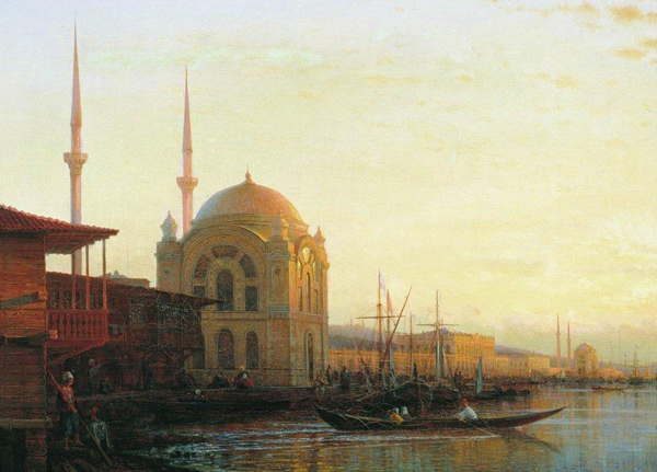 Alexey Bogolyubov - Mosque in Istanbul (Quelle: Wikipaintings)