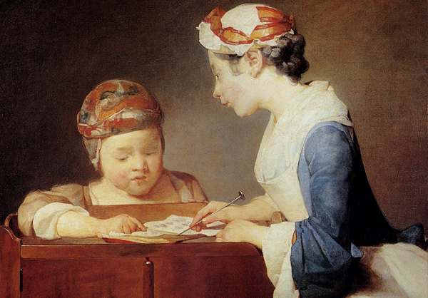 Jean-Baptiste-Simeon Chardin - The young teacher (Quelle: Wikipaintings)
