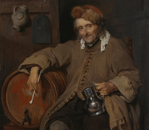 Gabriel Metsu - The old drinker (Quelle: Wikipaintings)