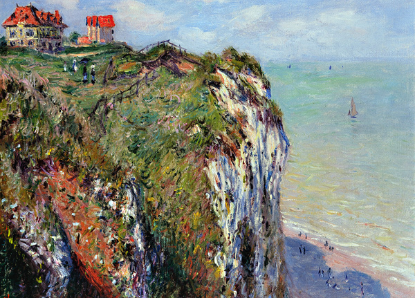 Claude Monet - Cliff near Dieppe (Quelle: Wikipaintings)