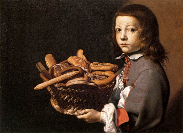 Evaristo Baschenis - Boy with a basket of bread (Quelle: Wikimedia Commons)