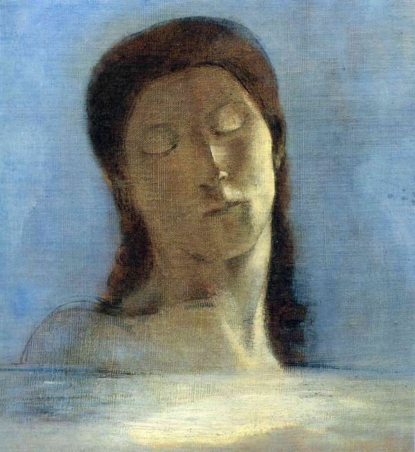 Odilon Redon - With closed eyes (Quelle: Wikipaintings)