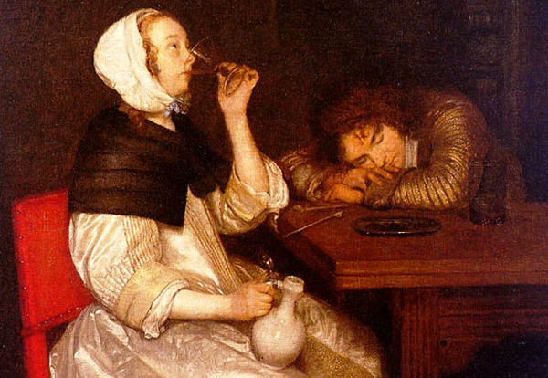 Gerard Terborch - Drink (Quelle: Wikipaintings)