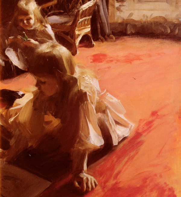 Anders Zorn - A Portrait Of The Daughters Of Ramon Subercasseaux (Quelle: Wikipaintings)