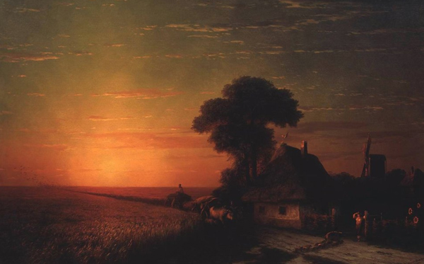 Ivan Aivazovsky - Sunset in Little Russia (Quelle: Wikiart)
