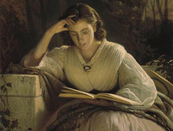 Ivan Kramskoy - Reading (Quelle: Wikiart)