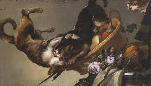 Frans Snyders (Workshop) - Two fighting cats (Quelle: Wikimedia Commons)
