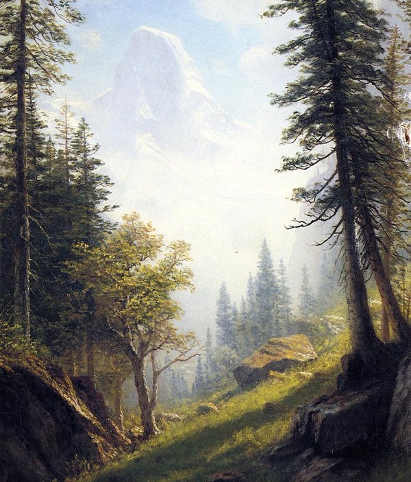Albert Bierstadt - Among the Bernese Alps (Quelle: Wikiart)