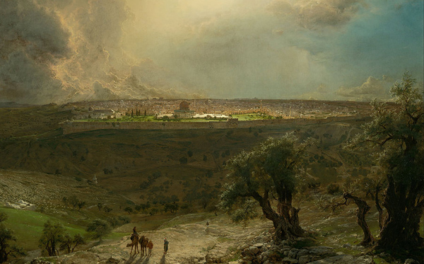 Frederic Edwin Church - Jerusalem from the Mount of Olives (Quelle: Wikiart)