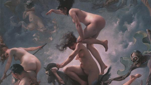 Luis Ricardo Falero - Witches going to their Sabbath (Quelle: Wikimedia Commons)