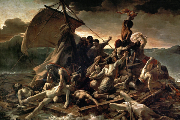 Jean Louis Théodore Géricault - The raft of the Medusa (Quelle: Wikimedia Commons)