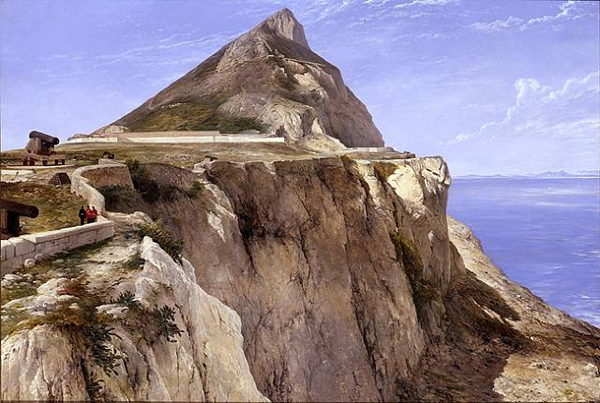 Frederick Richard Lee - The Rock of Gibraltar (Quelle: Wikimedia Commons)