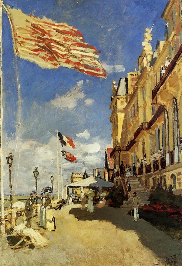 Claude Monet - L' Hotel des Roches Noires à Trouville (Quelle: Wikiart)