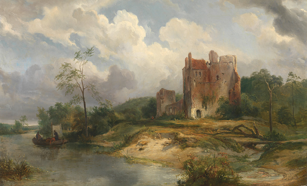 Wijnand Nuijen - River Landscape with Ruin (Quelle: Wikimedia Commons)