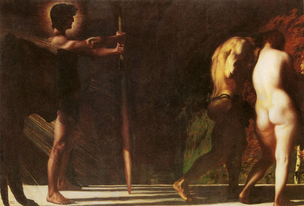 Franz Stuck - The lost paradise/Expulsion of Adam and Eve (Quelle: Wikiart)