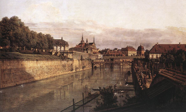Bernardo Bellotto - Zwinger Waterway (Dresden) (Quelle: Wikimedia Commons)
