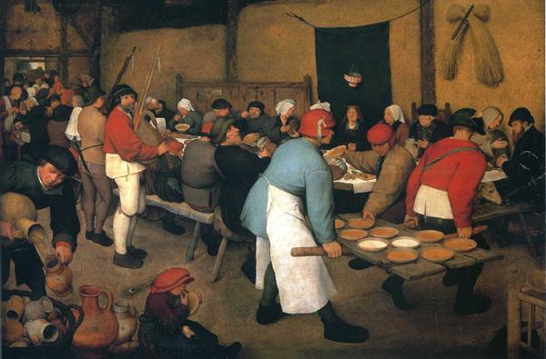 Pieter Bruegel - Peasant Wedding (Quelle: Wikiart)
