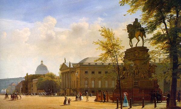 Eduard Gaertner - Berlin, Unter den Linden mit Oper (Quelle: Wikimedia Commons)