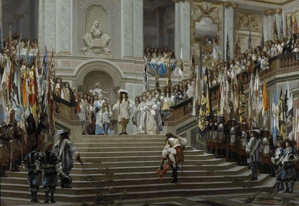Jean-Leon Gerome - Reception at Versailles (Quelle: Wikiart)