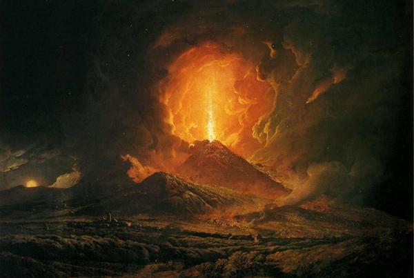 Joseph Wright - An Eruption of Vesuvius (Quelle: Wikiart)