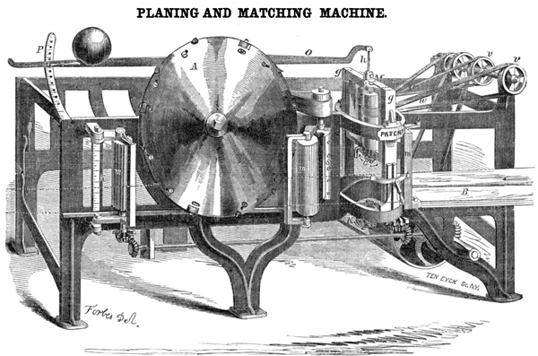 Forbes - Planing and Matching Machine/Cover for Scientific American Aug. 1855 (Quelle: Wikimedia Commons)