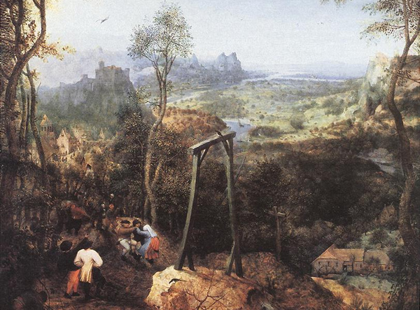 Pieter Bruegel the Elder - Magpie on the Gallows (Quelle: Wikiart)