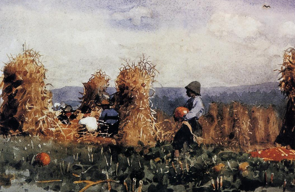Winslow Homer - The pumpkin patch (Quelle: Wikimedia Commons)