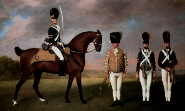 George Stubbs - Soldiers of the 10th Dragoon Regiment (Quelle: Wikiart)