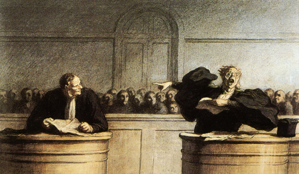 Honore Daumier - A famous cause (A famous trial) (Quelle: Wikiart)
