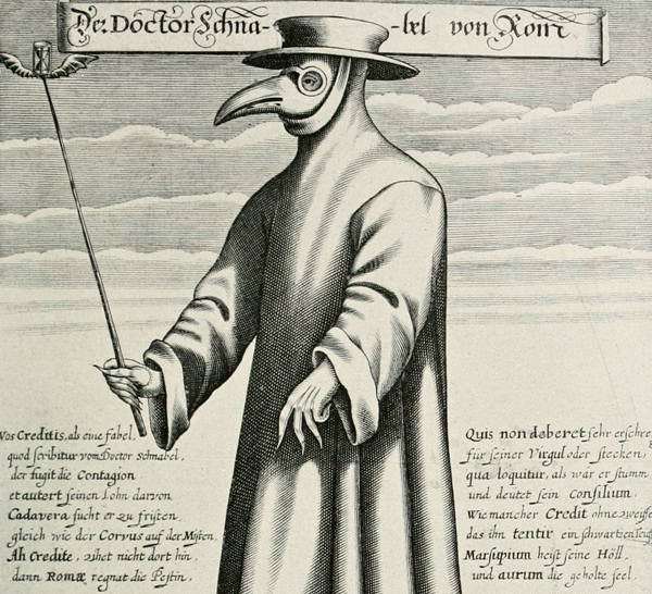 Paul Fuerst - Dr. Schnabel von Rom (Plague doctor) (Quelle: Wikimedia Commons)
