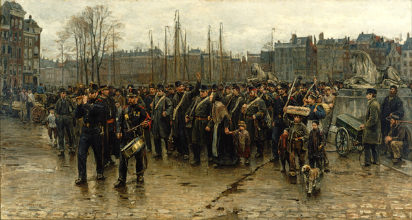 Isaac Israels - Transport of colonial soldiers (Quelle: Wikimedia Commons)(