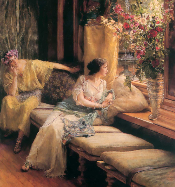 Lawrence Alma-Tadema - Vain courtship (Quelle: Wikiart)