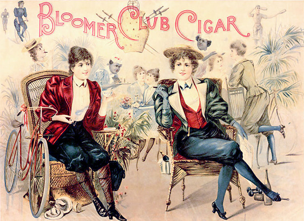 Anonymous - Bloomer Club Cigar Advertisement (Quelle: Wikimedia Commons)