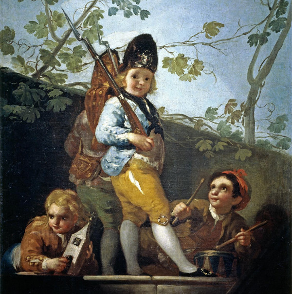 Francisco Goya - Boys playing soldiers (Quelle: Wikiart)