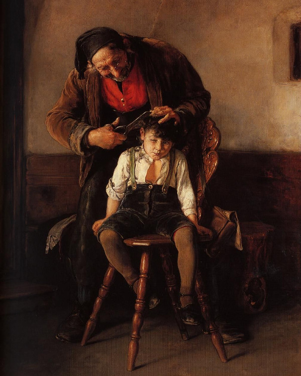 Nikolaos Gyzis - The barber (Quelle: Wikiart)