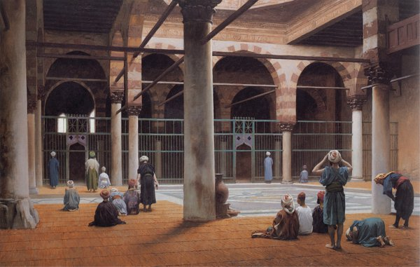 Jean-Leon Gerome - Interior of a Mosque (Quelle: Wikiart)