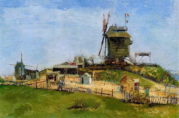 Vincent van Gogh - The windmill at La Gallette (Quelle: Wikiart)
