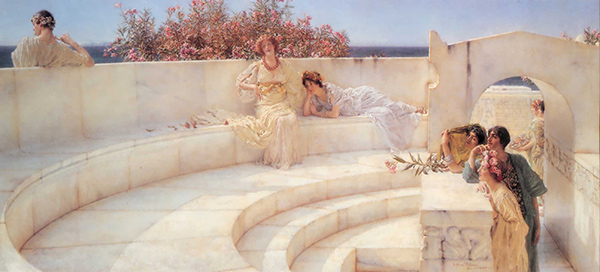 Lawrence Alma-Tadema, Under the Roof of Blue Ionian Weather (Quelle: Wikimedia Commons)
