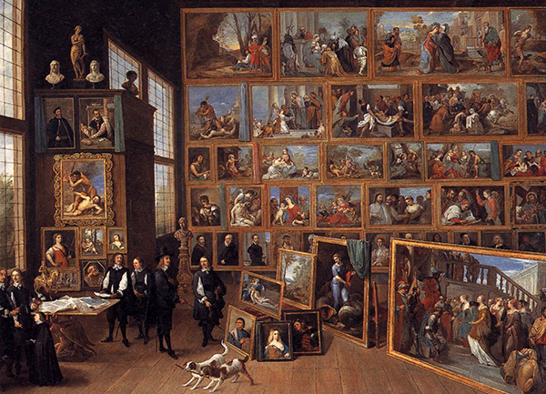 David Teniers the Younger - The Archduke Leopold Wilhelm in his Picture Gallery in Brussels (Quelle: Wikiart)