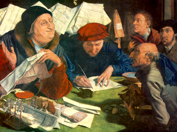 Marinus van Reymerswale - The Tax Collector (Quelle: Wikimedia Commons)