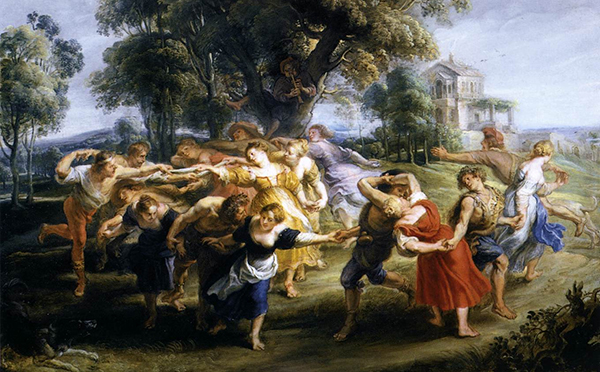 Peter Paul Rubens - Dance of Italian Villagers (Quelle: Wikiart)