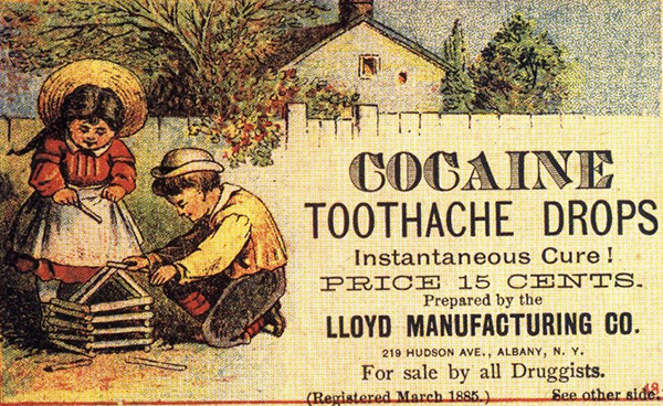 Cocaine Toothache Drops (Quelle: Wikimedia Commons)