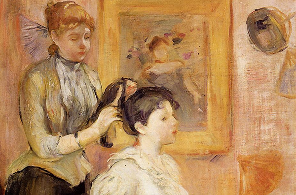 Berthe Morisot - The hairdresser (Quelle: Wikiart)