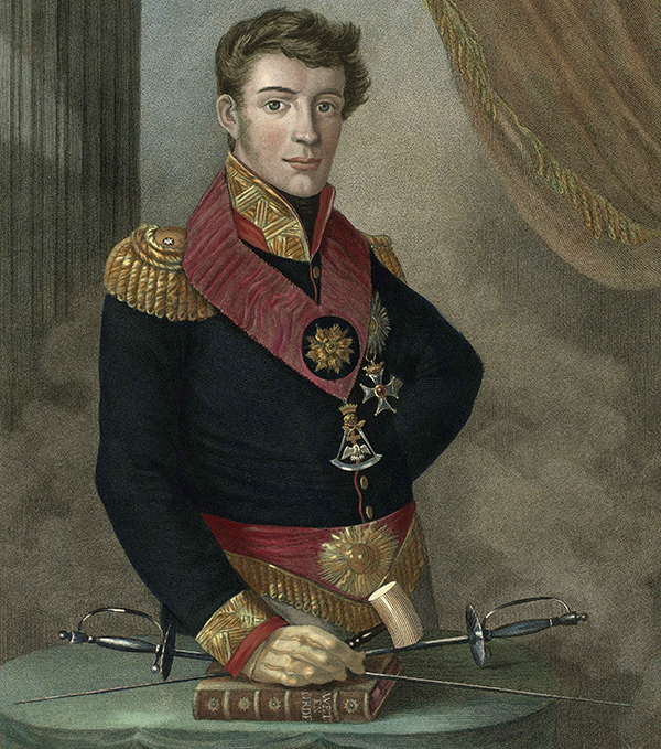 Prince Frederik of the Netherlands in 1817 as Grand-master of the Dutch freemasons (Quelle: Wikimedia Commons)