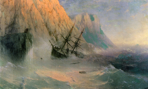 Ivan Aivazovsky - The shipwreck (Quelle: Wikiart)