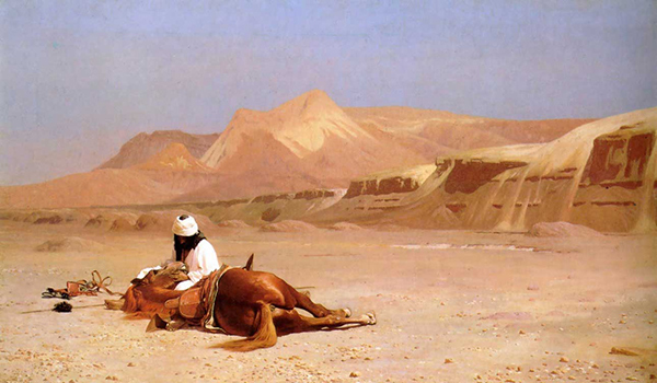 Jean-Leon Gerome - The Arab and his steed (Quelle: Wikiart)